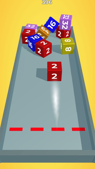 Chain Cube: 2048 3D merge game screenshot 2