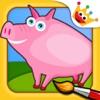 农场: 着色动物拼图 - 游戏的孩子