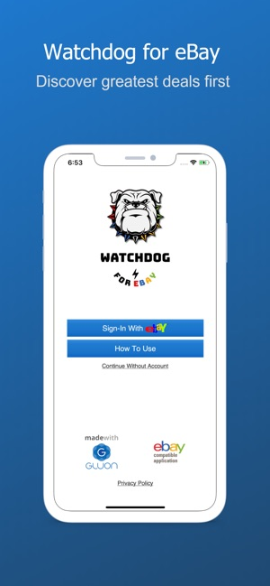Watchdog for eBay on the App Store