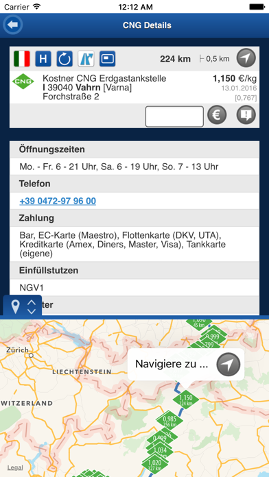 Screenshot for gibgas CNG-App in Sweden App Store