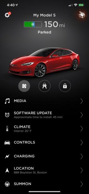 Tesla on the App Store