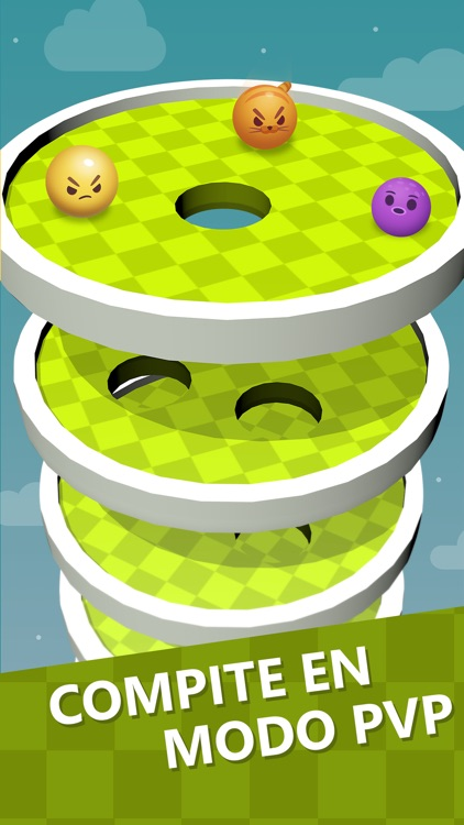 Fall Down Golf: helix tower