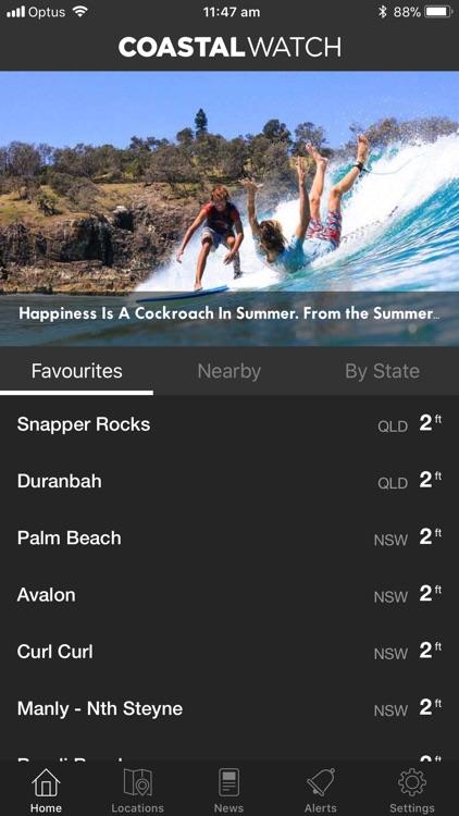Coastalwatch Surf Check screenshot-0