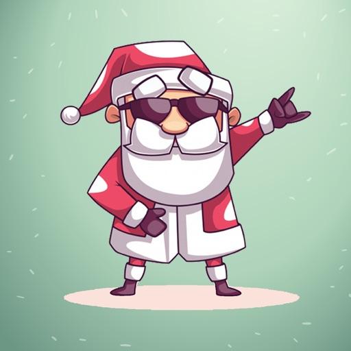 Christmas Eve Santa Stickers