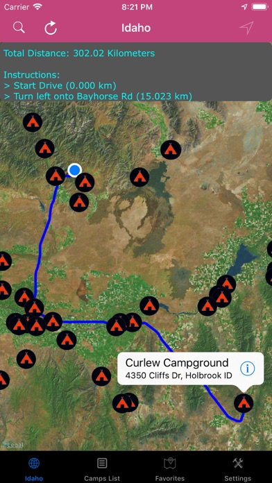 Idaho – Campgrounds & RV Parks   App Price Drops