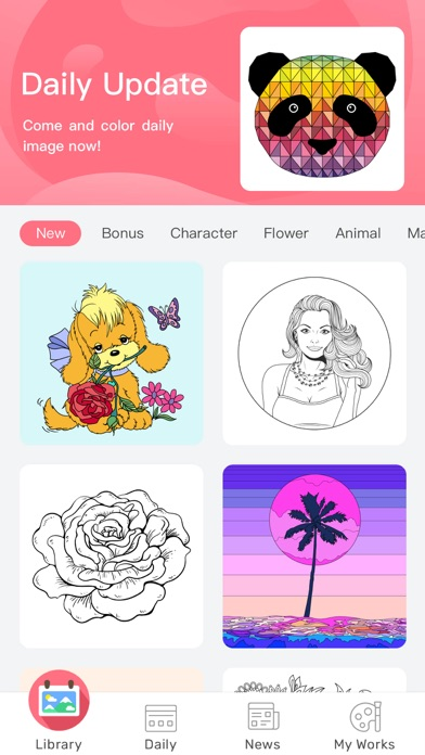 Paint By Number: Coloring Book app image