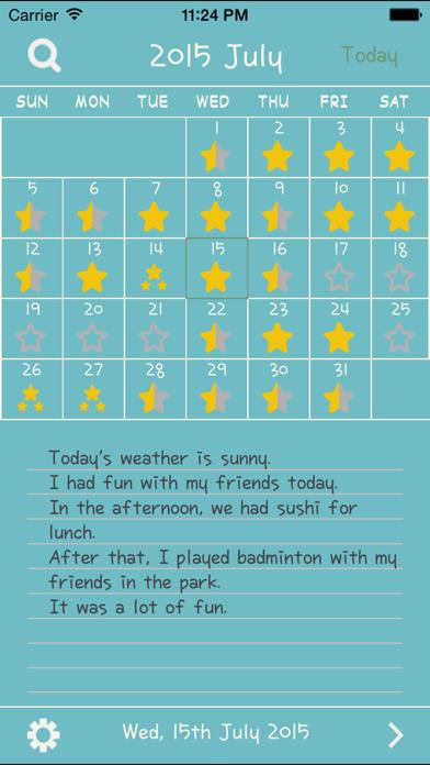 English Diary -英語日記- 英語 ダイアリーのおすすめ画像1