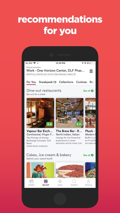 Screenshot for Zomato - Food & Restaurants in United Arab Emirates App Store
