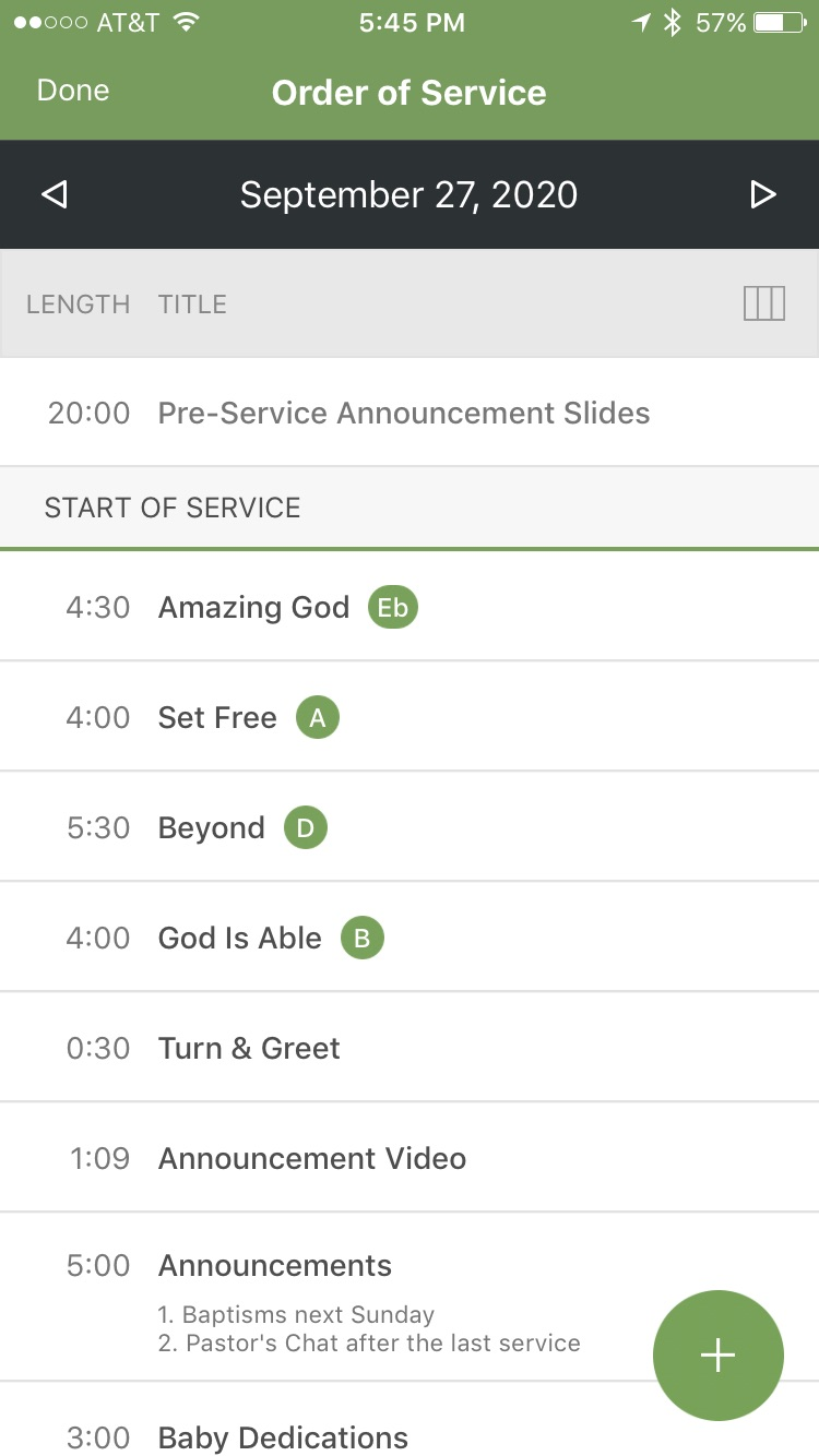 Planning Center Services Screenshot