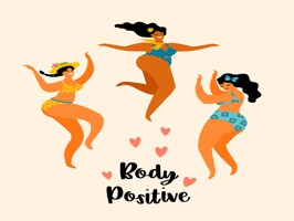 The BodyPositiveNPD is a small sticker, which are show the 50 Body Positive NPD sticker in cartoon