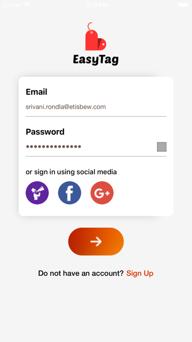 EasyTag - Event Check-In App screenshot one