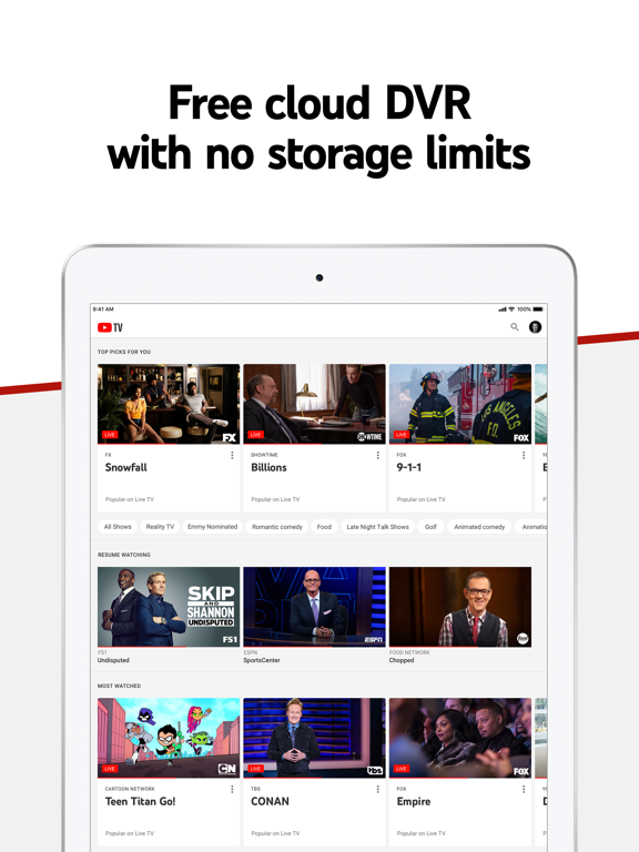 YouTube TV-ipad-3