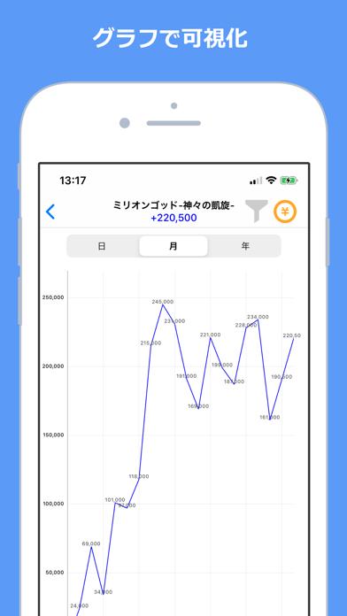 Myパチ収支表 パチンコ・パチスロ収支管理 screenshot four
