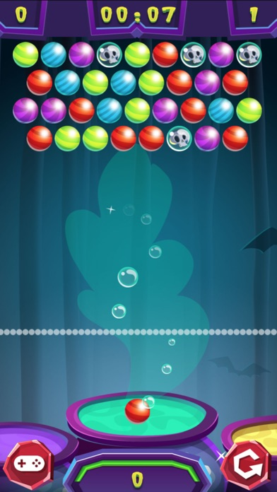 Halloween Scary Bubble Shooter screenshot 2