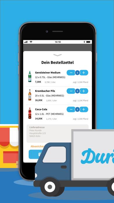 Screenshot for Durst: Deine Getränke per App in Germany App Store