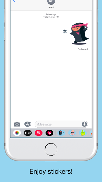 Ninja emoji - Attack stickers screenshot 5