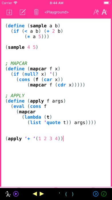 My Lisp review screenshots