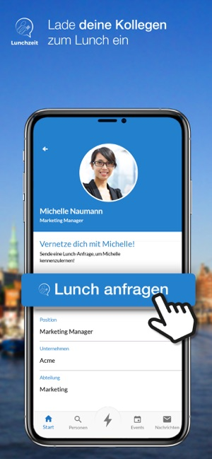 Lunchzeit Business Networking Screenshot