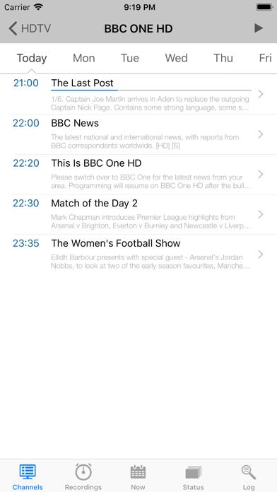 TvhClient by Luis Fernandes (iOS, United Kingdom) - SearchMan App