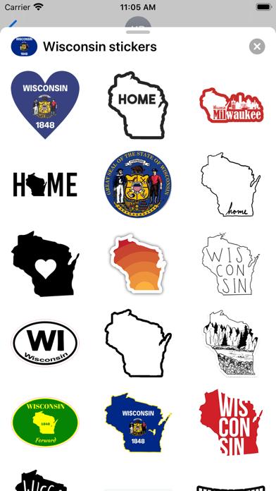Wisconsin emoji - USA stickers screenshot 1