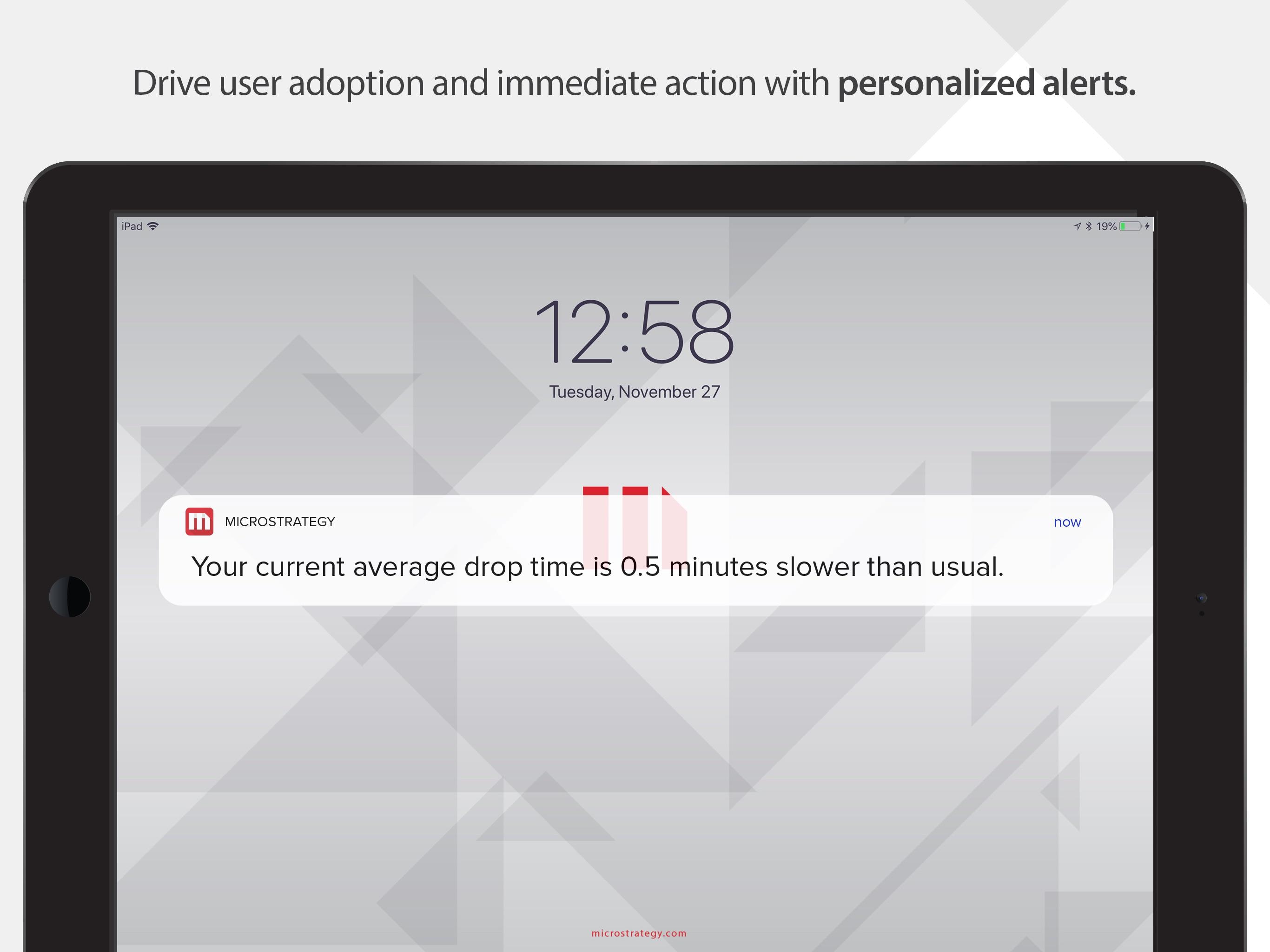 MicroStrategy Mobile for iPad Screenshot