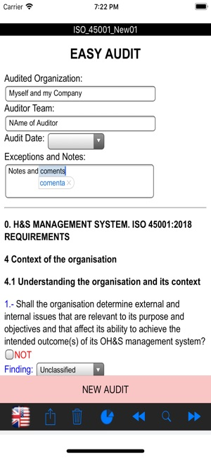 Easy ISO and OHSAS Audits on the App Store