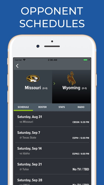 Missouri Football Schedules screenshot-5