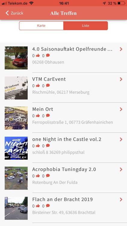 CARlender - Die Treffen App