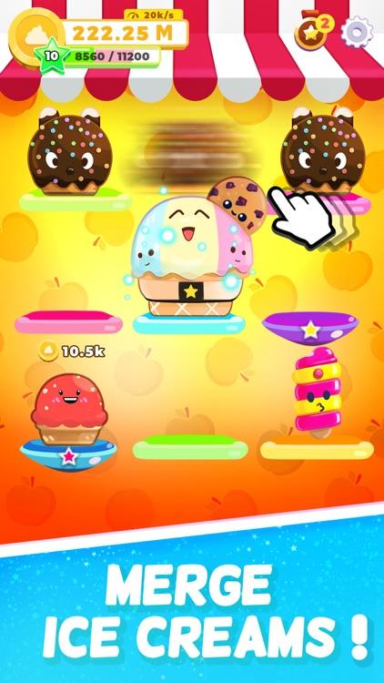Ice Cream idle: Merge games! screenshot-0