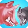 Pig Fight Battle