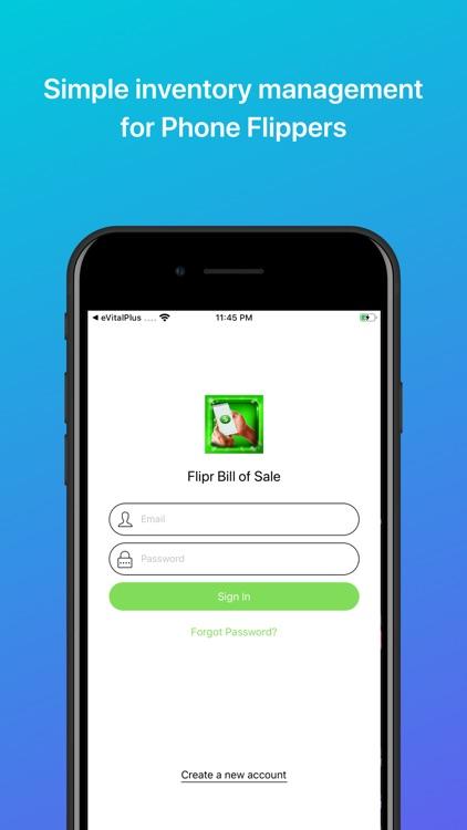 Flipr Bill Of Sale