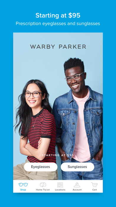 7806bbf65635 Our app is the easiest way to shop for Warby Parker eyeglasses and  sunglasses, which start at $95 (with free shipping and returns!). With the  app you can…