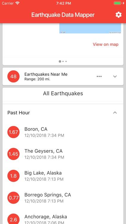 Earthquake Data Mapper screenshot-3