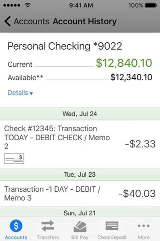 BayPort CU Mobile Banking - náhled