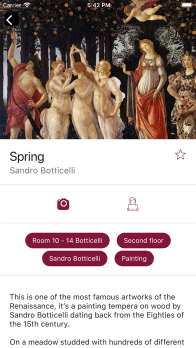 Screenshot of Uffizi Gallery5