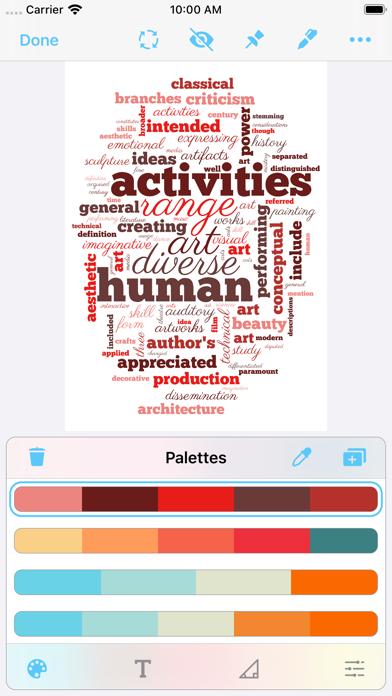 Screenshot #1 pour Wordsalad - Smart Word Clouds