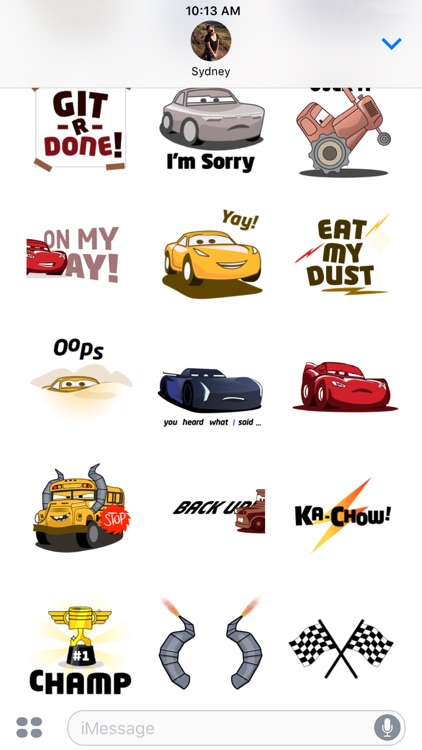 Pixar Stickers: Cars 3 screenshot-4
