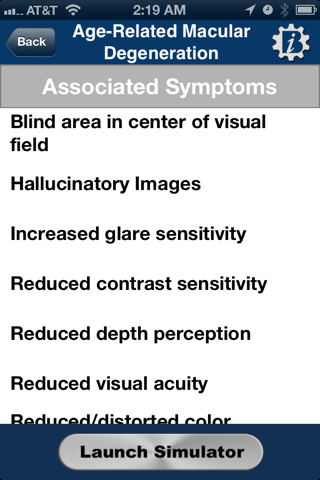 VisionSim by Braille Institute - náhled