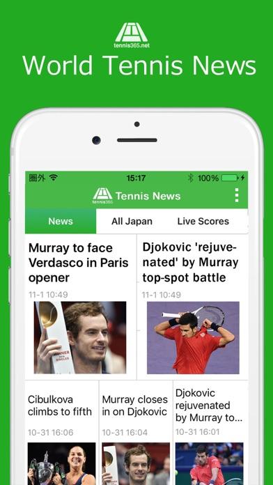 World Tennis News / LiveScores screenshot one