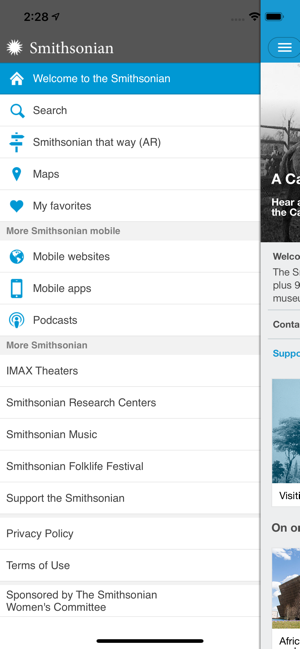 ‎Smithsonian Mobile Screenshot
