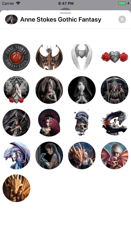Anne Stokes Gothic Stickers