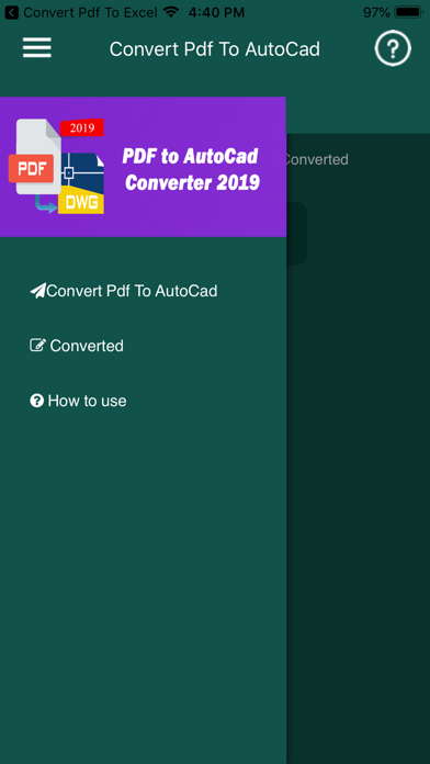 Convert PDF to AutoCad ScreenShot0