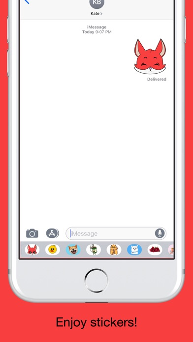 Fox emoji stickers pack screenshot 5