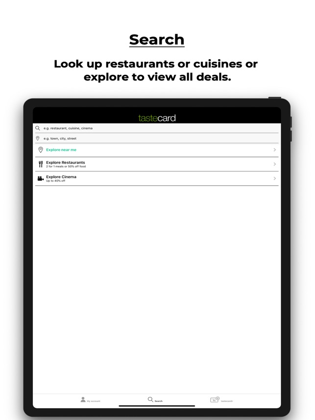 Tastecard Dining Discounts On The App Store