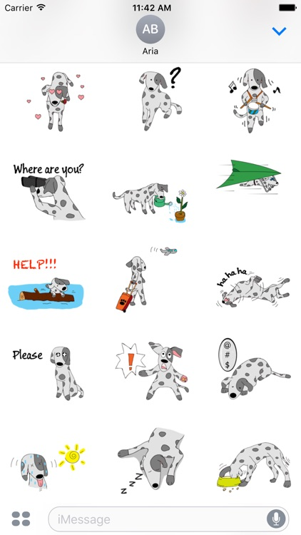 Brave Dalmatian Dog Sticker