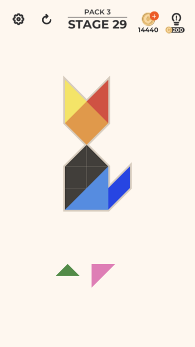 Screenshot for ZEN Block™-tangram puzzle game in Hong Kong App Store