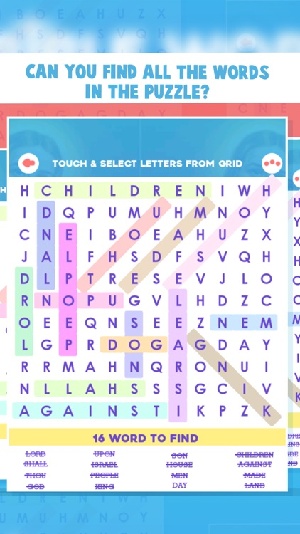 Bible Word Search Puzzle Games screenshot-6