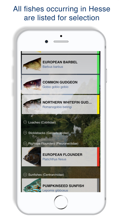 Screenshot of Fishguide Hessia App