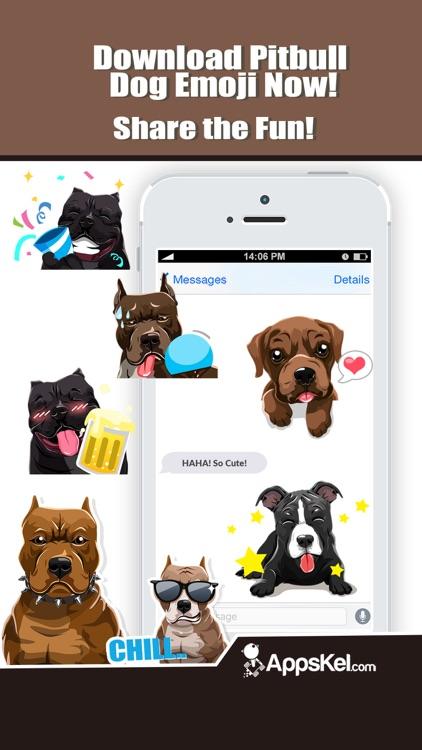Pit Bull Dogs Emoji Stickers screenshot-4