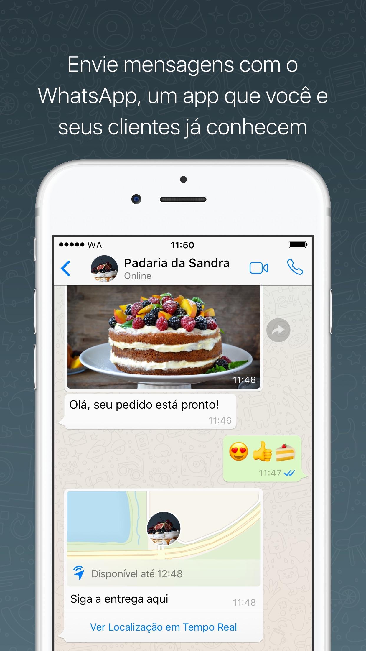 Screenshot do app WhatsApp Business